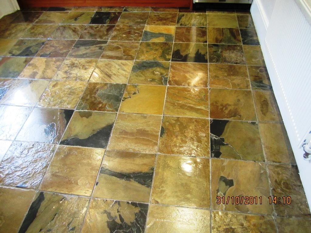 Slate Tiled Floor in Marylebone, London