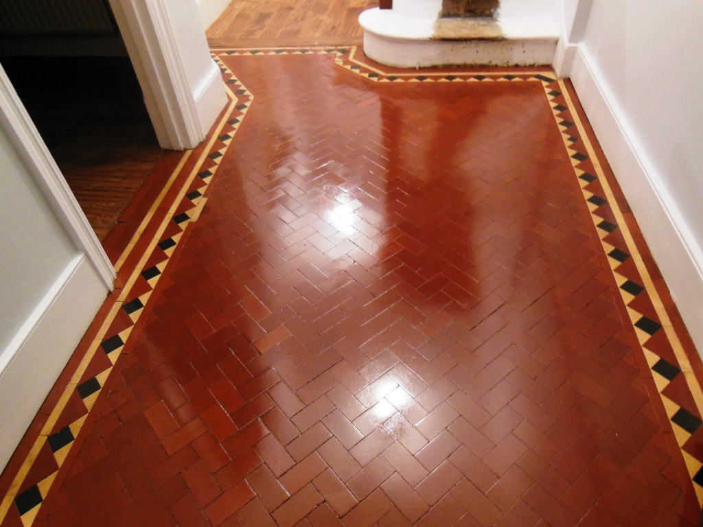 Victorian Tiled floor restoration in Lewisham