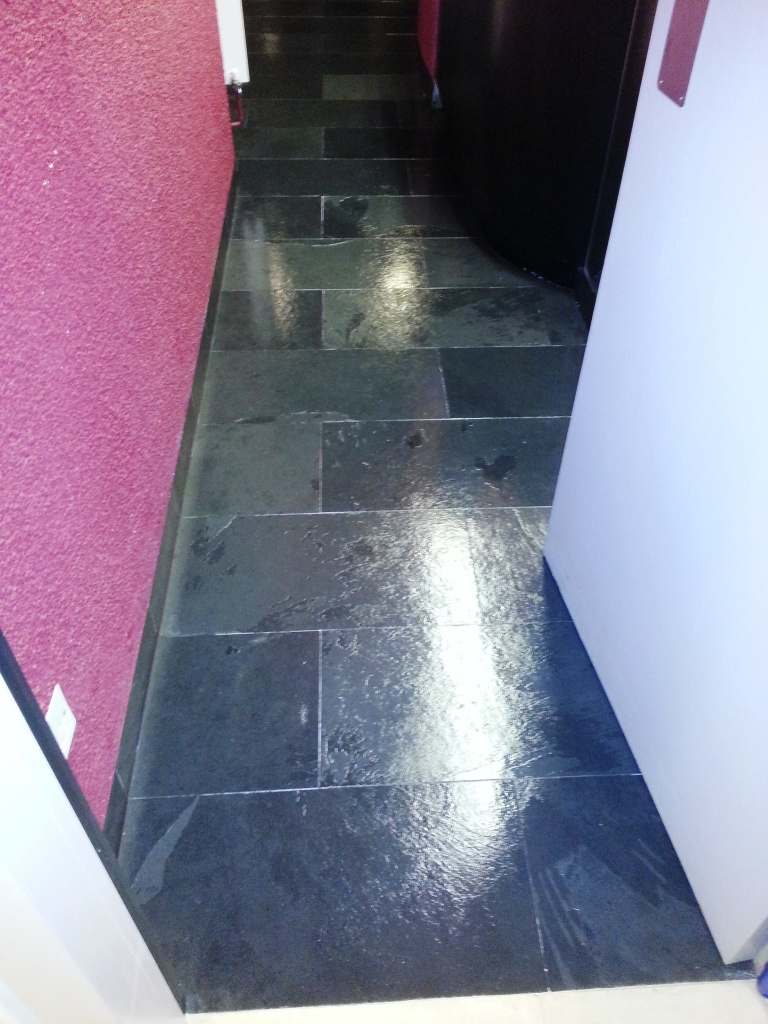 Slate Floor Cleaning at a Central London Office
