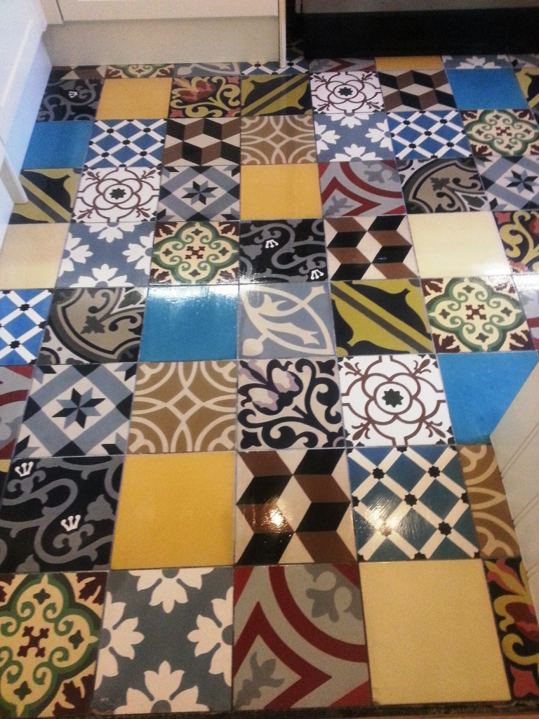 Cleaning Encaustic Kitchen Floor Tiles in Beckenham