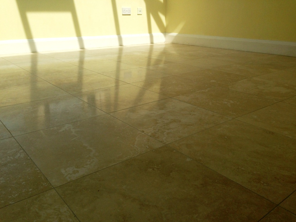 Travertine Tiled floor in Gerrards Cross