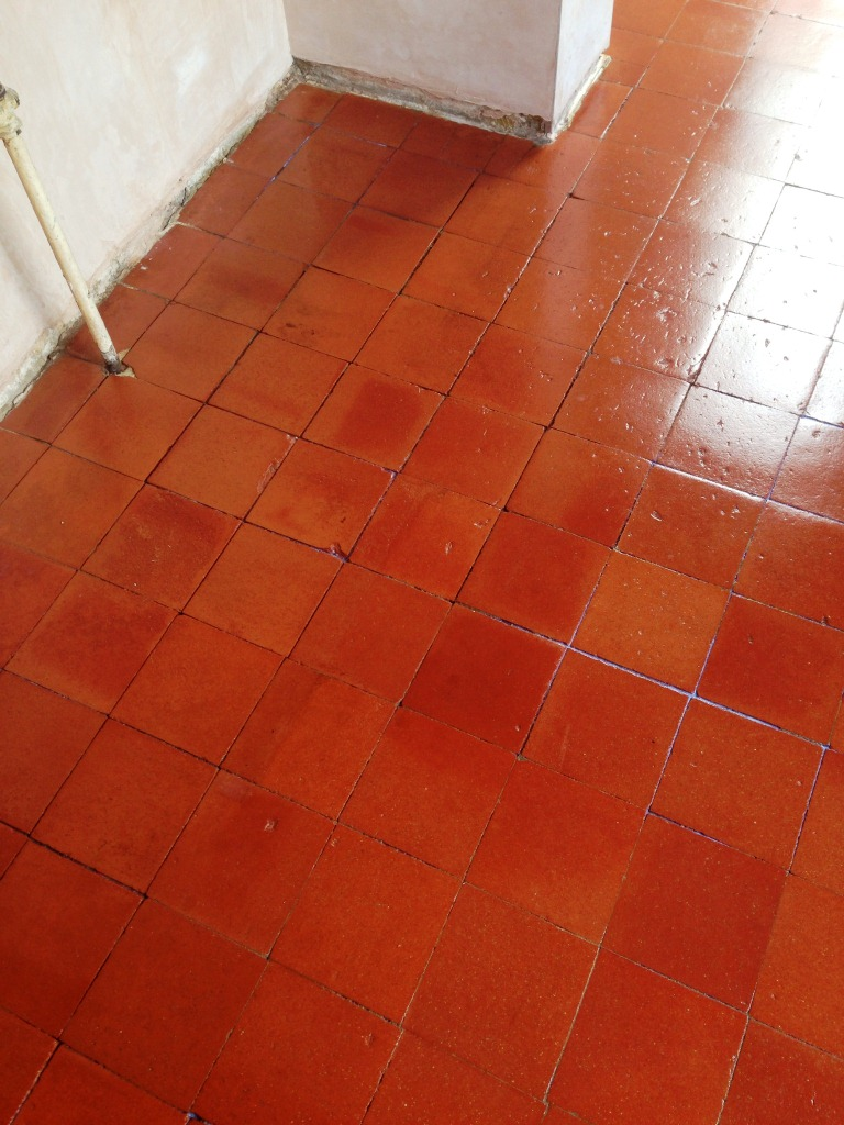 Quarry tiled floor restoration in Grove Park, South London