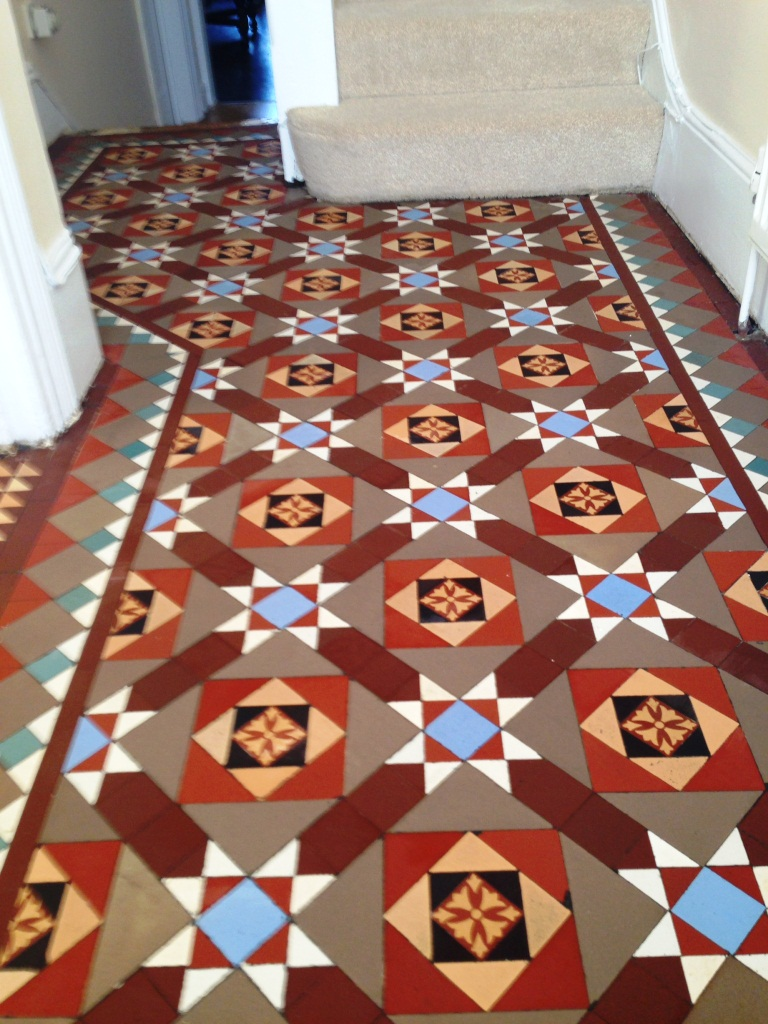 Victorian Tiled Hallway Restoration in Balham