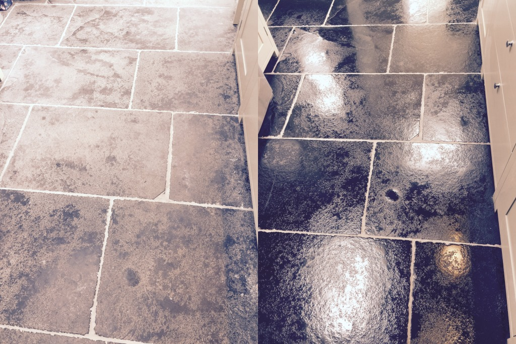 Black Limestone Floor installation problems resolved in Wimbledon