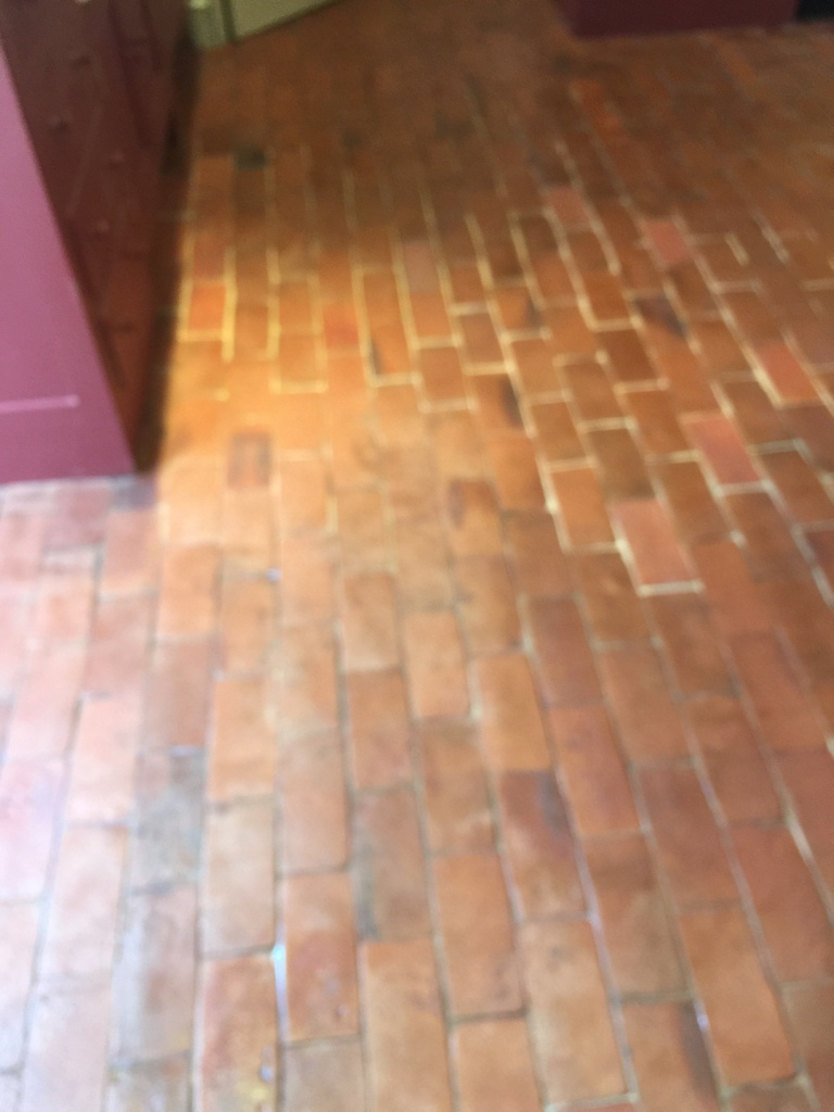 Quarry Tiled Floor After Rebuild Croydon