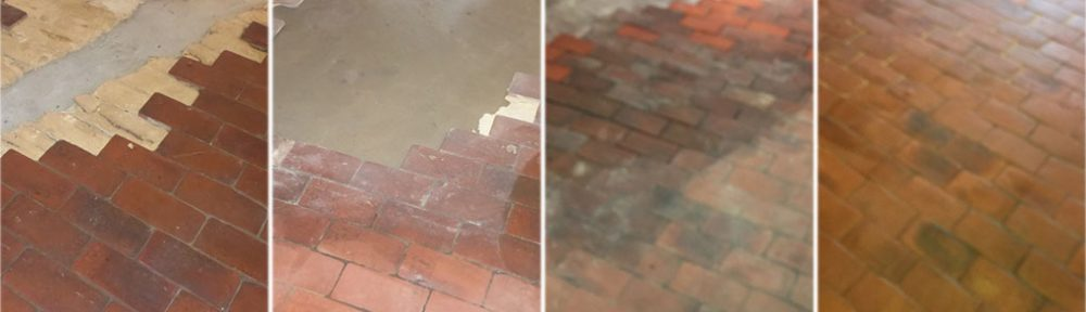 Rebuilding and Restoring a Damaged Quarry Tiled Floor in Croydon