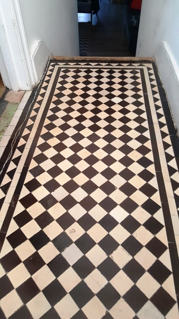 Victorian Tiled Hallway After Restoration Streatham