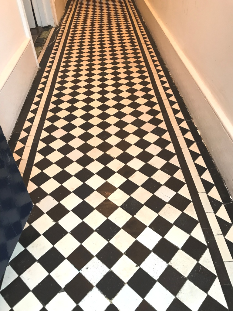 Victorian Tiled Hallway After Restoration Streatham