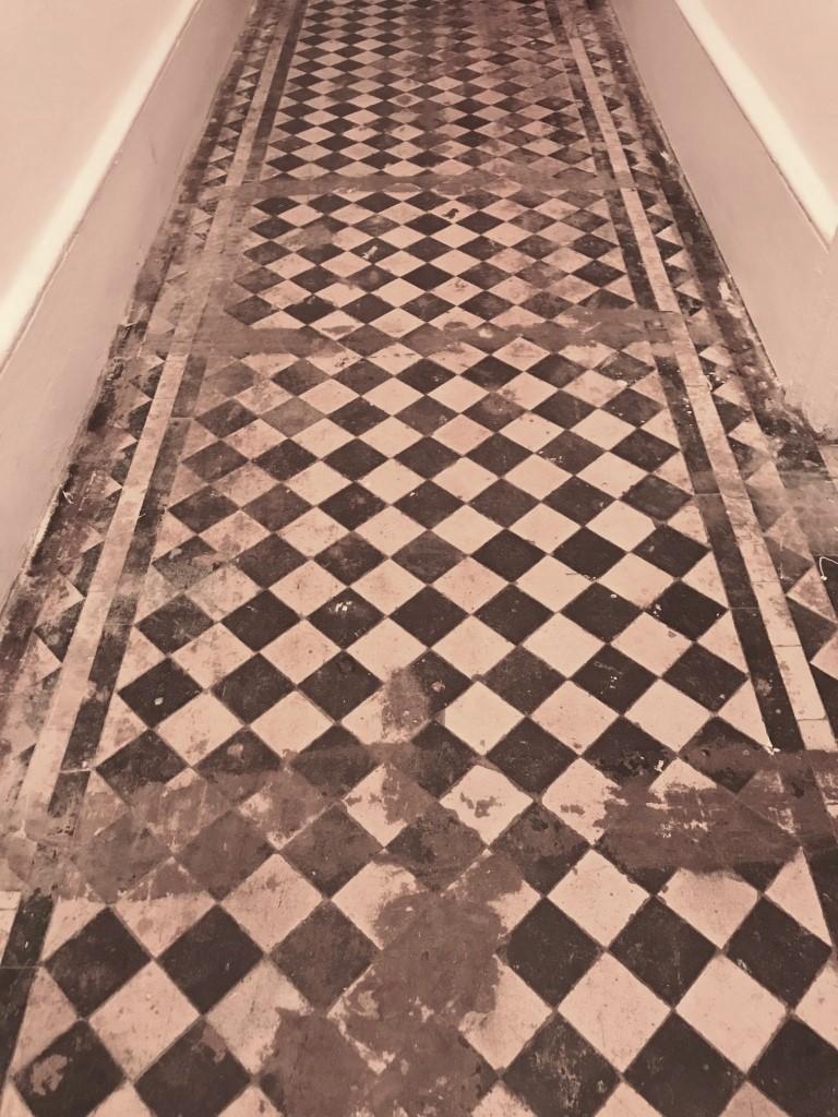 Victorian Tiled Hallway Before Restoration Streatham