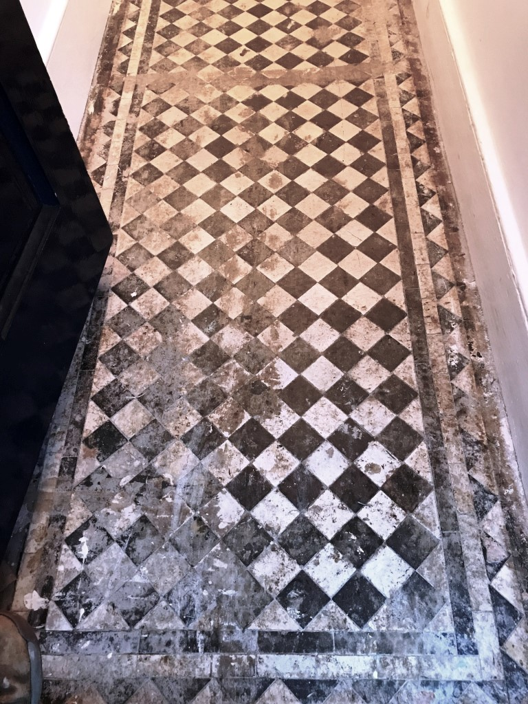 Victorian Tiled Hallway Before Restoration Streatham