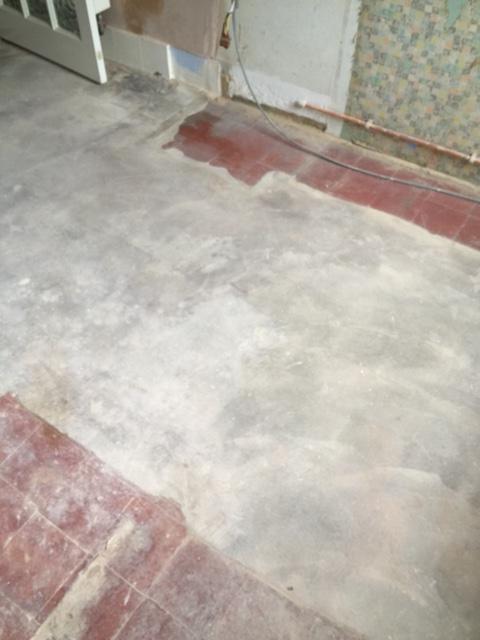 Quarry Tiled Floor Before Renovation Coulsdon