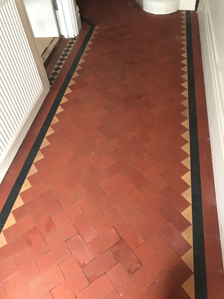 Victorian Tiled Hallway After Restoration Tooting