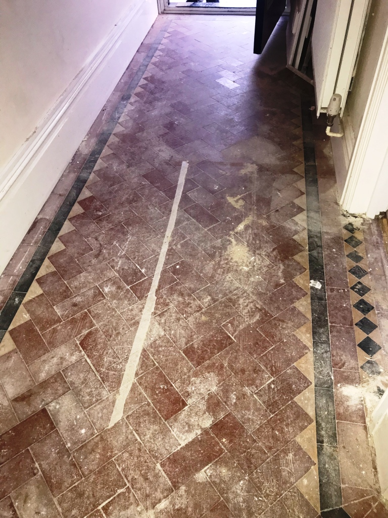 Victorian Tiled Hallway Before Restoration Tooting