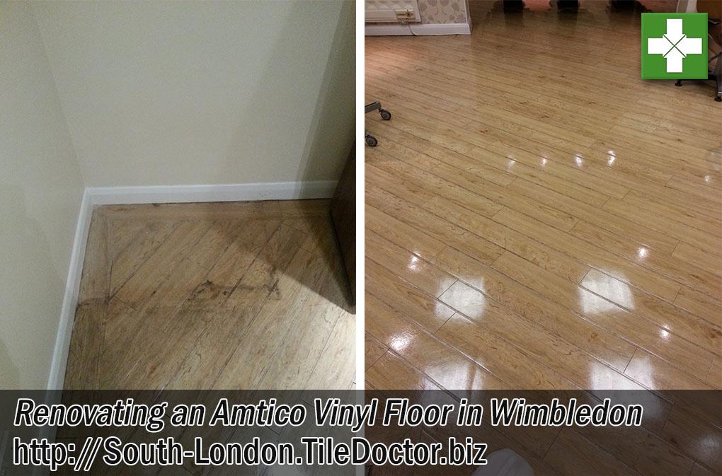 Amtico Vinyl Floor Before Cleaning After Sealing Wimbledon